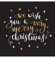 Christmas greeting card with calligraphy vector image vector image