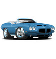 classic seventies style american convertible vector image