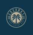 coconut tree logo emblemcreative palm tree badge vector image