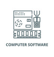 computer software line icon linear concept vector image vector image
