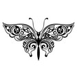 decorative silhouette of butterfly vector image vector image