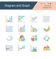 diagram and graph icons flat design collection 56 vector image vector image