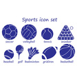 Different sports icon vector image