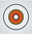 donut icon colored line symbol premium quality vector image vector image