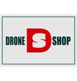 Drone shop text and emblem vector image vector image