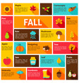 fall infographic concept vector image