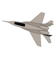 fighter mig 29 on white background vector image