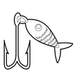 Fishing lure icon outline style vector image vector image