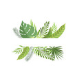 foliage border with space for your text exotic vector image vector image