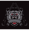 fury bear head vector image vector image