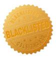 Gold blacklisted medallion stamp