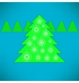 Green Tree and Balls vector image