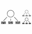 Hierarchy composition icon inequal parts