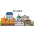 italy brescia city skyline architecture vector image vector image