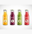 juice glass bottles set vector image