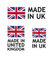 made in united kingdom label tag template vector image vector image