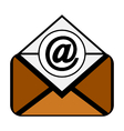 Mail symbol icon on white vector image