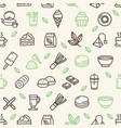 matcha tea sign seamless pattern background on a vector image vector image