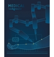 Medical background The future of surgery vector image vector image
