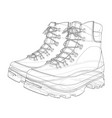 mens boot concept rendering of 3d vector image vector image