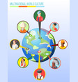 multinational world culture design concept vector image vector image