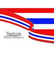 new-text-flag-thai vector image