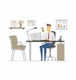 office man - modern flat vector image