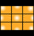 orange sun burst set vector image