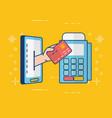 people online banking vector image