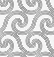 Perforated striped spiral waves vector image vector image