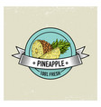pineapple vintage hand drawn fresh fruits vector image vector image