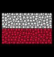 polish flag mosaic of elephant icons vector image
