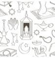 ramadan muslims holy month pattern vector image