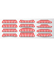 realistic striped shop sunshade store awning shop vector image