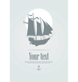 sailing boat with an anchor vector image vector image