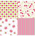 set abstract seamless patterns vector image vector image