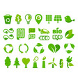 set eco icons or isolated ecology signs vector image vector image