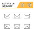 set line icons envelope vector image