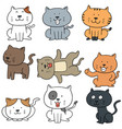 set of cats vector image vector image