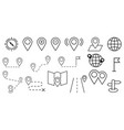 set of location icons included the icons as pin vector image