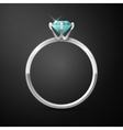 silver wedding ring vector image