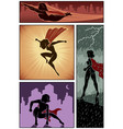 super heroine banners 3 vector image vector image