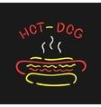 Symbol Neon Hot Dog vector image vector image