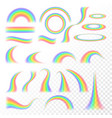 transparent rainbow set vector image vector image