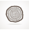 tree rings Flat Design vector image vector image