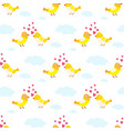 two lovely birds couple fall in love fly vector image vector image