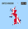 united kingdom map border with flag eps10 vector image