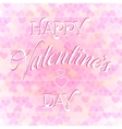 valentines day lettering card vector image vector image
