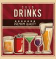 vintage drinks poster vector image