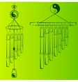 Wind Chimes Design element vector image vector image